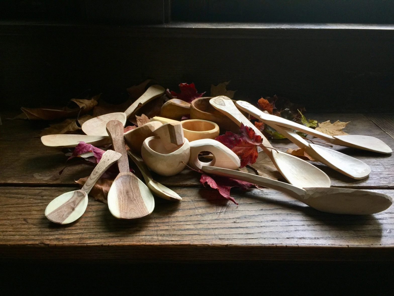 a bunch of decent spoons and cups