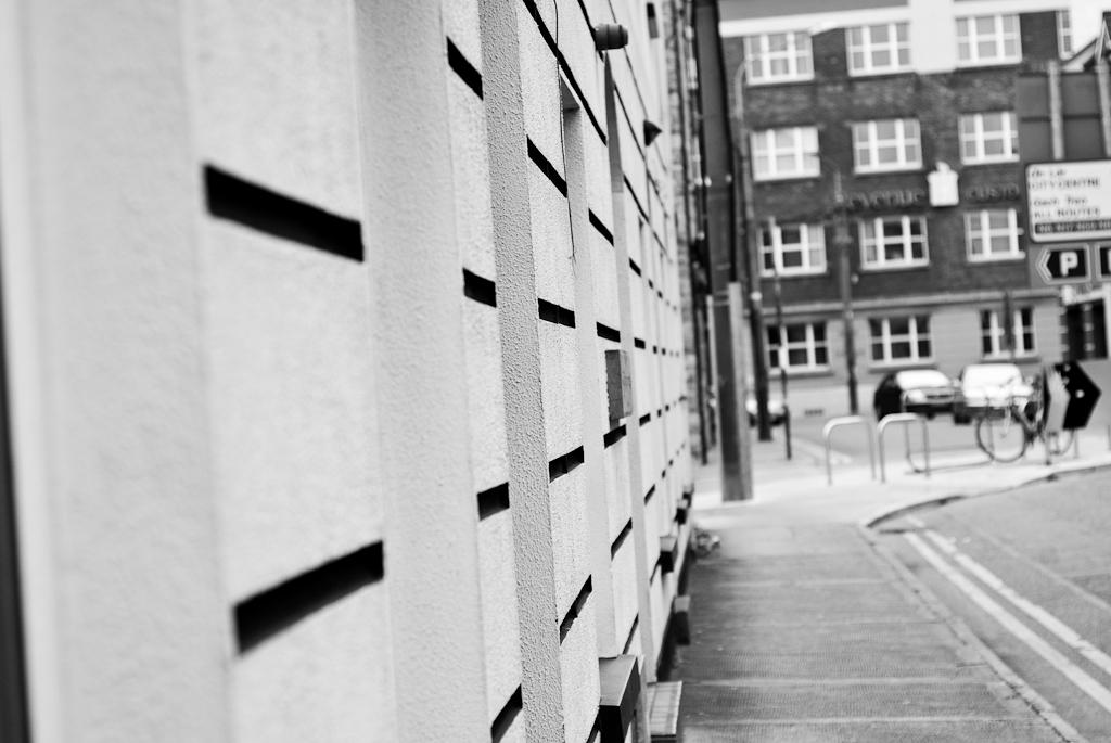 corners of buildings