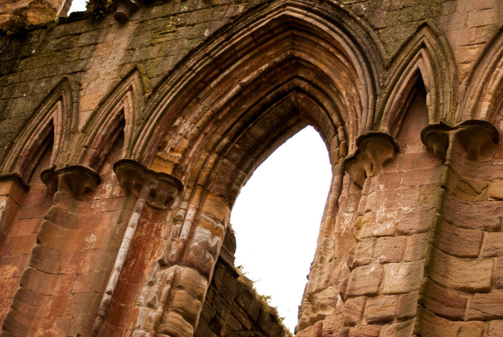 photo of arches at a ruined abbey