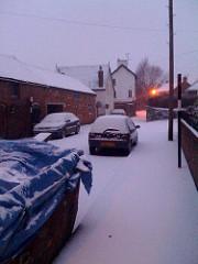 Snow near us.