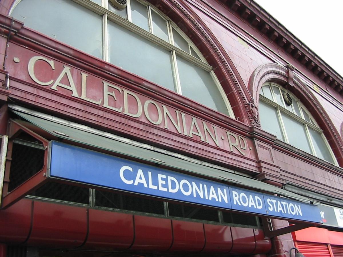 several signs saying Caledonian Road