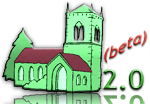 silly web 2.0-style logo of a church
